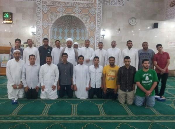 المعتكفون١٤٣٤هجري مسجد المصطفى