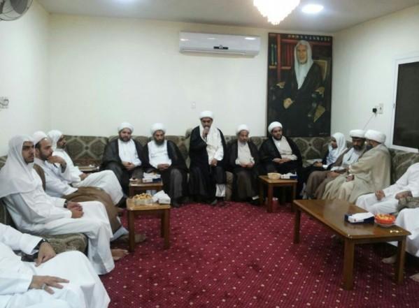 تغطية مصورة لجانب من زوار سماحة الشيخ عبد الحميد المرهون