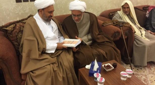 لقاء أخوي مع العلامة الشيخ ناصر ابن المرحوم الحجة الشيخ أحمد بن خلف العصفور
