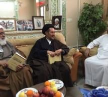 زيارة سماحة العلامة السيد هاشم الشخص وسماحة العلامة الشيخ عبد المجيد البكشي