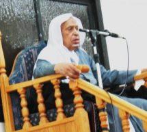 سماحة الشيخ عبد الحميد المرهون يؤدي الصلاة على المرحوم الخطيب الكبير الشيخ سعيد المرهون
